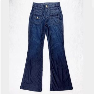 7 for all of Mankind Jeans High Rise Flare Dark